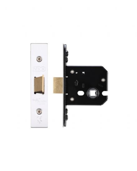 Zoo Hardware ZUKF64SS Flat Mortice Latch 64mm Satin Stainless Steel